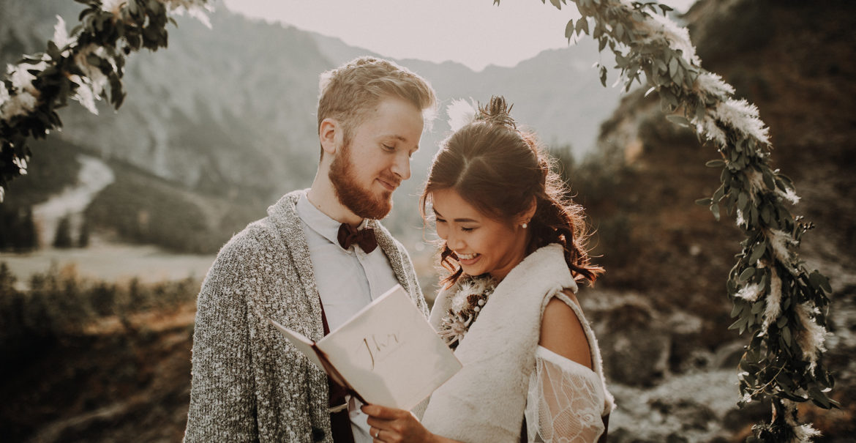 Tirol Hochzeitsshooting im BOHO Stil