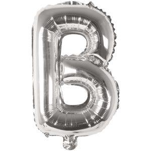 Buchstabenballon von Rico Design aus silberner Folie. Der Buchstabe B wird in diesem Fall angeboten.