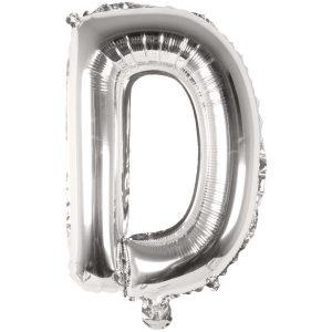 Buchstabenballon von Rico Design aus silberner Folie. Der Buchstabe D wird in diesem Fall angeboten.
