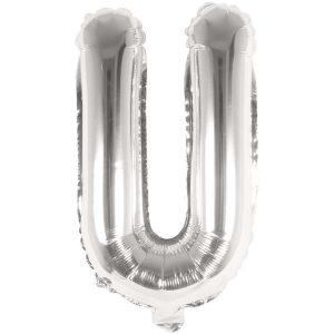 Buchstabenballon von Rico Design aus silberner Folie. Der Buchstabe U wird in diesem Fall angeboten.