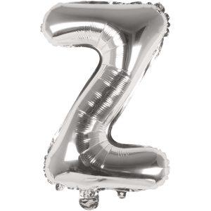 Buchstabenballon von Rico Design aus silberner Folie. Der Buchstabe Z wird in diesem Fall angeboten.