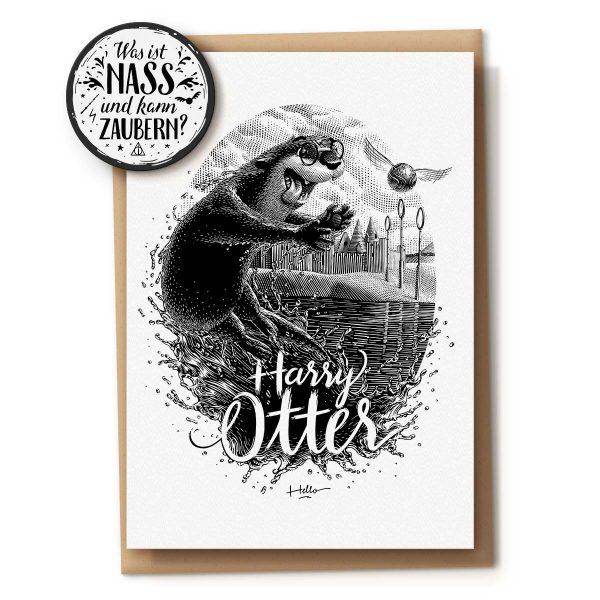 Kunstdruck Harry Otter