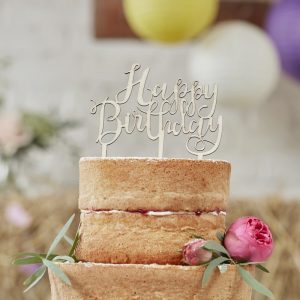 """Cake Topper """"Happy Birthday"""" von Ginger Ray für Hochzeitstorten"""