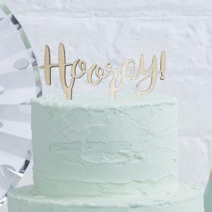 """Cake Topper """"Hooray"""" von Ginger Ray für Torten"""