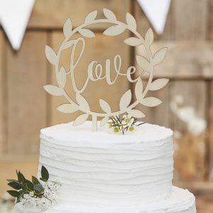 """Cake Topper """"Love"""" von Ginger Ray für Torten"""