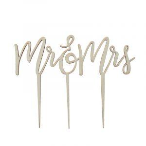 """Cake Topper """"Mr. & Mrs"""" von Ginger Ray für die Hochzeitstorte"""