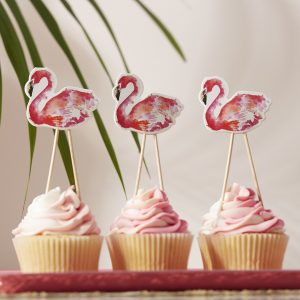 Cupcake Topper Ginger Ray Flamingo pink