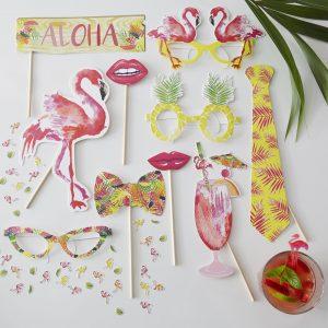 Flamingo Photo Booth Set von Ginger Ray für Partys und JGAs
