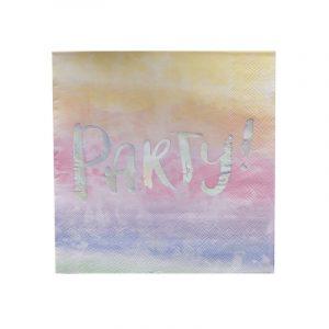 Serviette, Regenbogen irisierend, Party, Ginger Ray