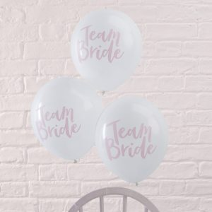 "Konfetti Ballon, Ginger Ray, ""Team Bride"", Rosa"
