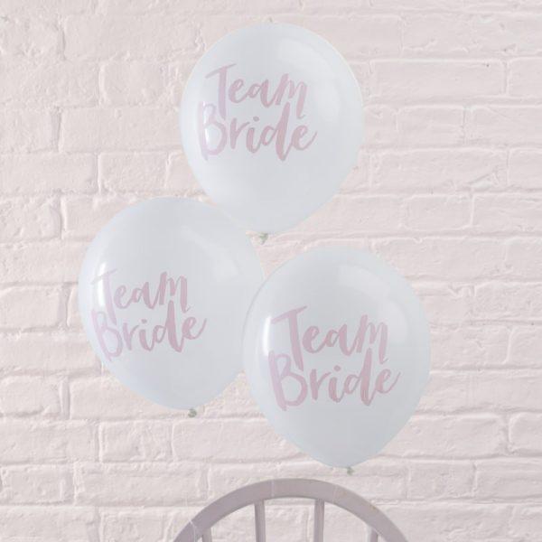"Konfetti Ballon, Ginger Ray, ""Team Bride"", Rosa"