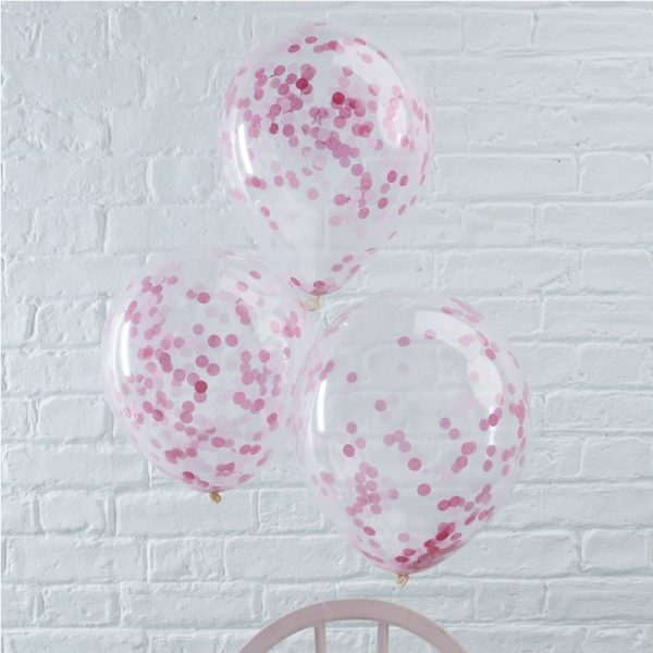 Konfetti Ballon, Ginger Ray, Pink, Rosa