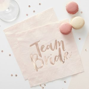 Serviette, Team Bride, Rosegold, JGA, Ginger Ray