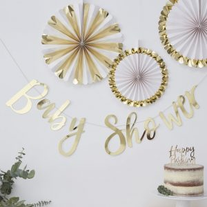 """Baby Shower"" Girlande Ginger Ray, Gold"