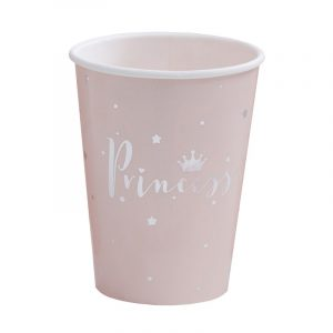 Party Becher Prinzessin Silber Rosa JGA Fawntastique
