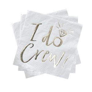 Servietten I do Crew weiß gold Ginger Ray Fawntastique