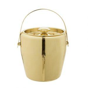 Eiskübelbehälter in Gold