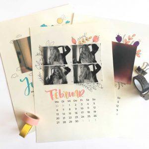 Kalender mit Lettering gestalten