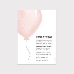 Einladung Geburtstag Ballons Pastell Fawntastique