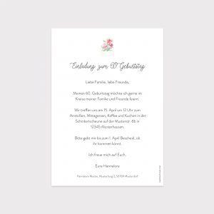 Einladung Geburtstag Pastell Blumen Brief Fawntastique