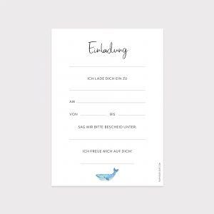 Einladung Kindergeburtstag Wal Fawntastique