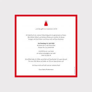 Einladung Geburtstag Köln rot weiß Fawntastique