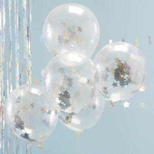 Konfetti-Luftballons Hologram Sterne Ginger Ray Fawntastique