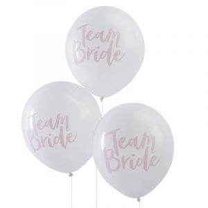 "Ballons ""Team Bride"" Rosa Weiß Ginger Ray Fawntastique"