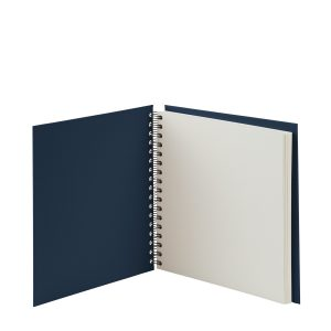 Quadratische Fotoalbum in der Farbe Blau