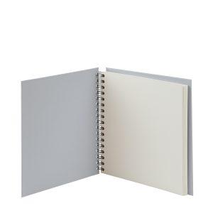 Quadratische Fotoalbum in der Farbe Grau