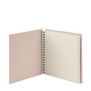 Quadratische Fotoalbum in der Farbe Nude