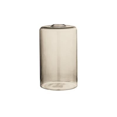 Vase aus braunen Glas